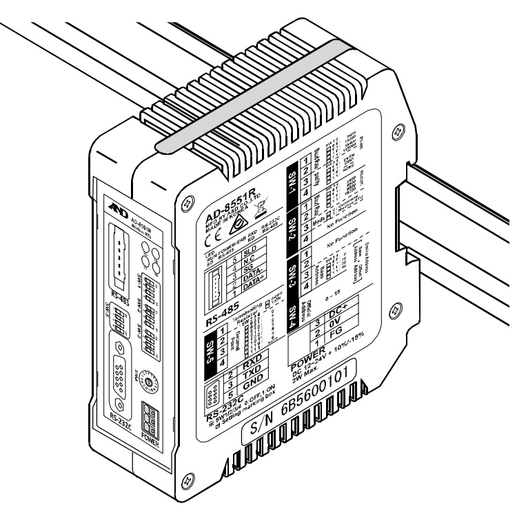 Modbusコンバータ AD-8551R 画像
