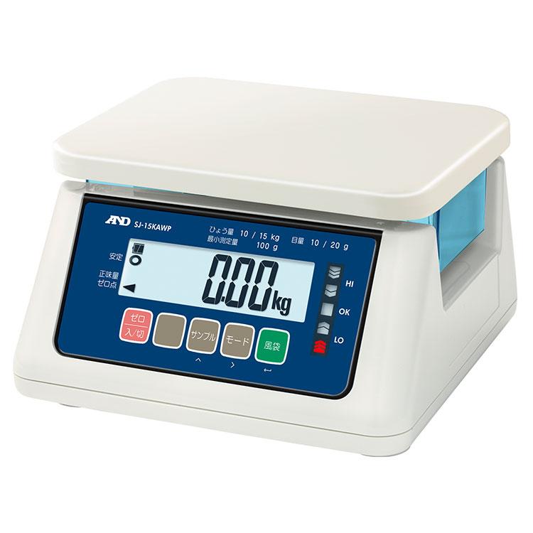 検定付きはかり 防塵防水はかり SJ-AWP / SJ-AWP-BT(ワイヤレス通信モデル)