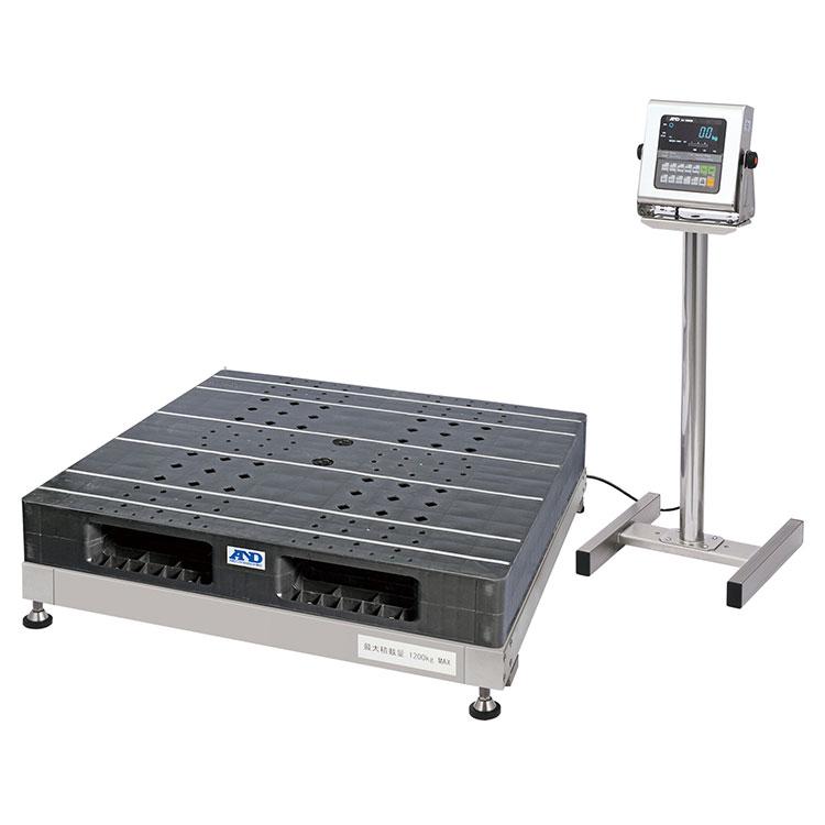 検定付きはかり 防塵・防水パレット一体型デジタル台はかり SN-1200KWP-K