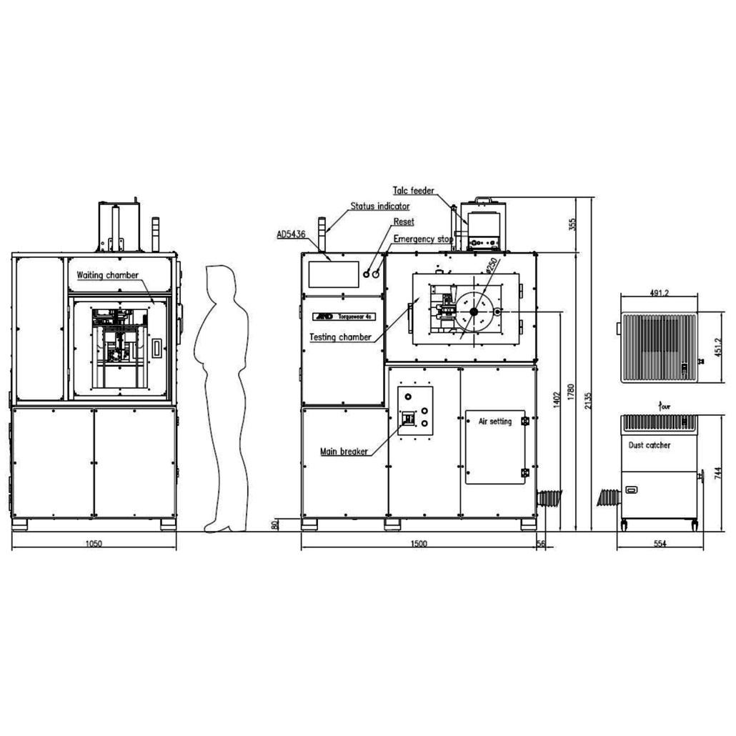 ランボーン摩耗試験機 画像
