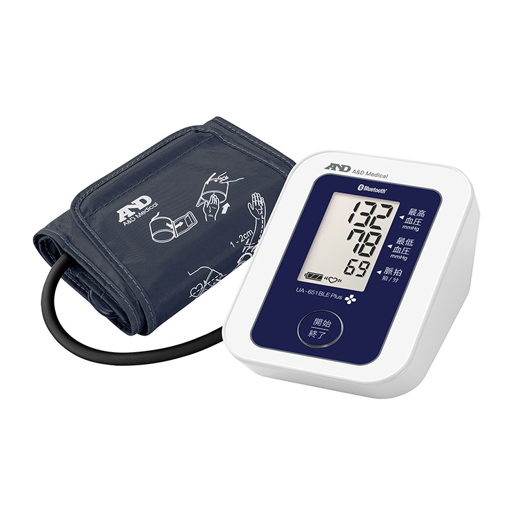 Bluetooth Low Energy内蔵血圧計 UA-651BLE Plus(商品コード UA-651LB-JC11)
