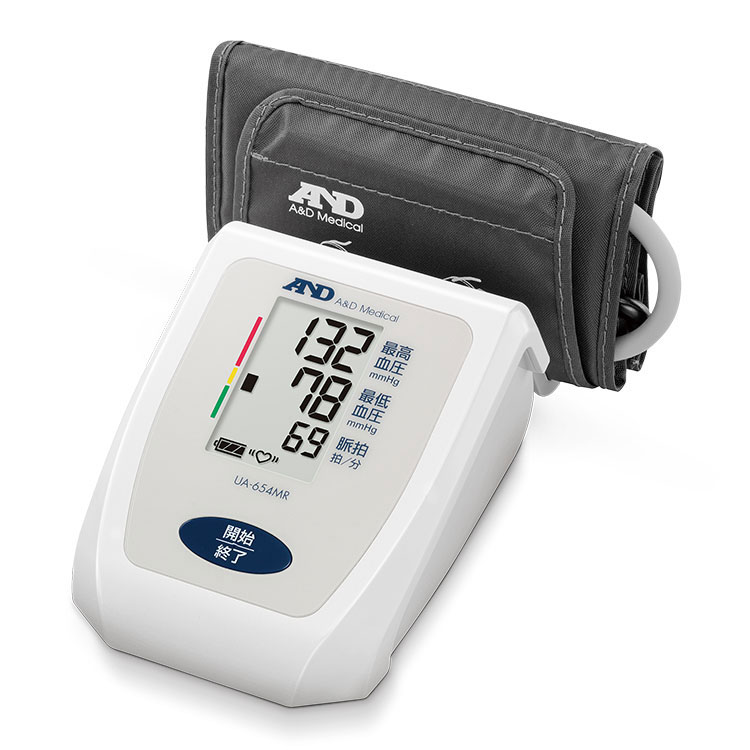 上腕式血圧計 UA-654MR(商品コード UA-654B-JC61)