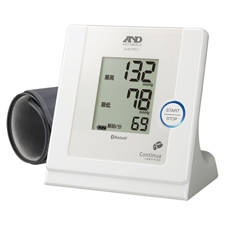 Bluetooth内蔵 パーソナル血圧計 UA-851PBT-C 画像