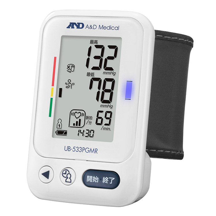 手首式血圧計 UB-533PGMR(商品コード UB-533B-JC21)