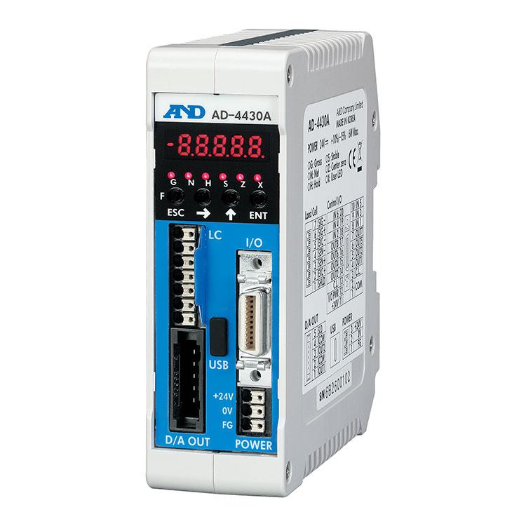 アナログ4-20mA出力2系統搭載・制御盤組み込みタイプ ウェイング・モジュール AD-4430A