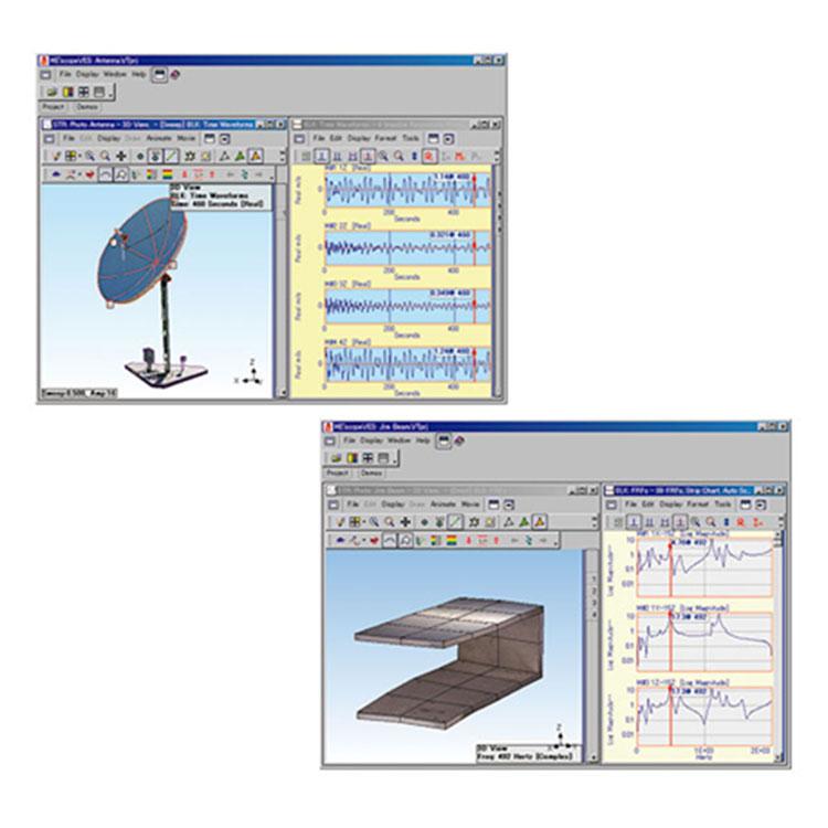 実験モーダル解析・音響解析ソフトウェア ME'scopeVES
