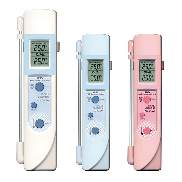 中心温度センサー付き赤外線放射温度計 AD-5612A