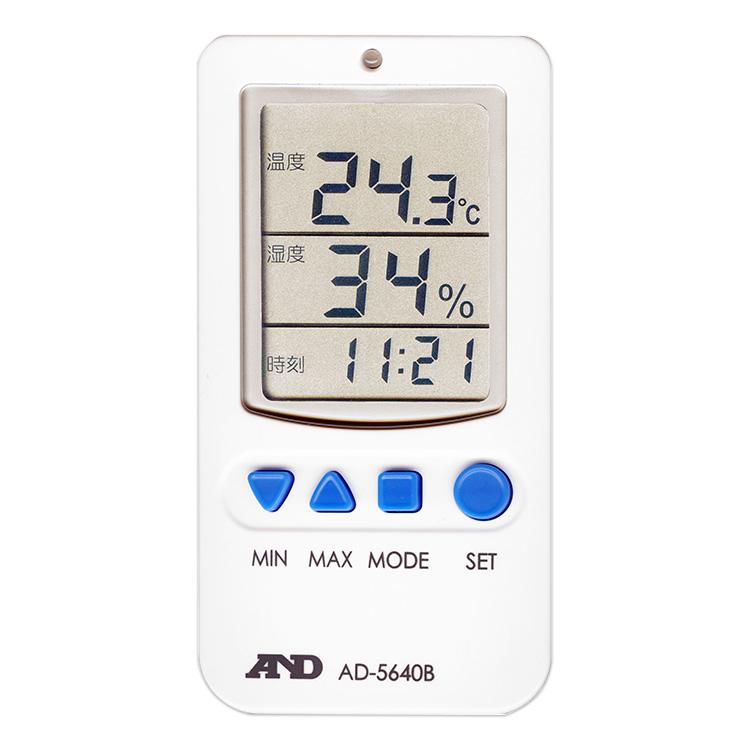 アラーム付き温湿度計 AD-5640B