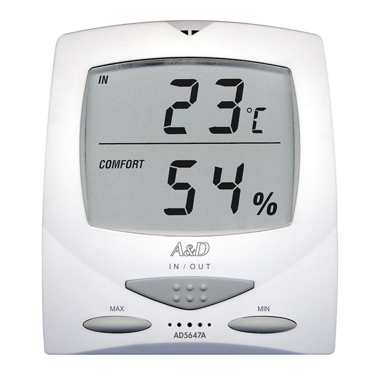 外部センサー付き温湿度計 AD-5647A