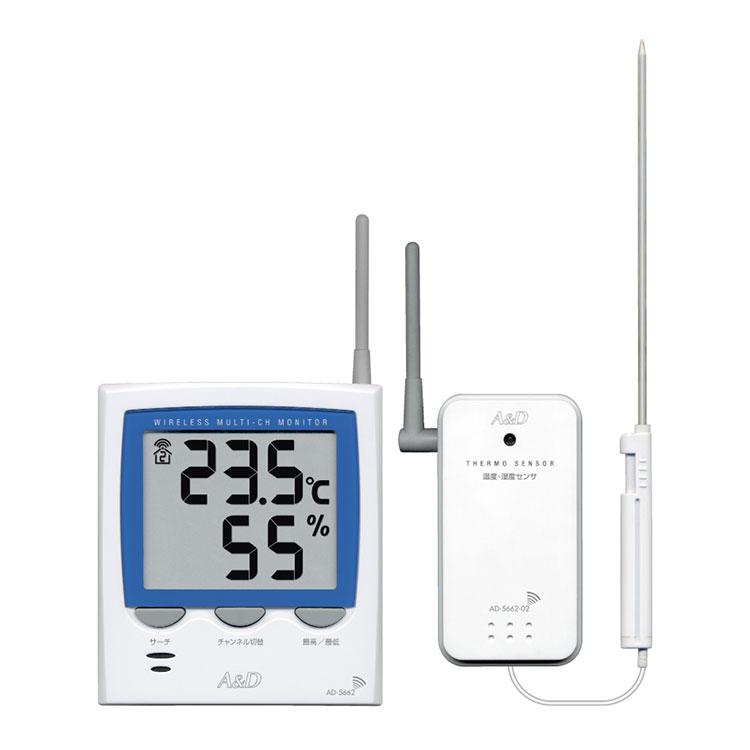 ワイヤレスマルチチャンネル温湿度計 AD-5662TT / AD-5662HT 画像