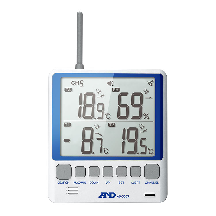 ワイヤレスマルチチャンネル温湿度計 AD-5663 画像