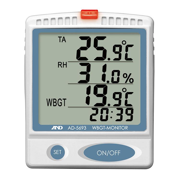 壁掛・卓上形 熱中症指数計 / 熱中症指数モニター AD-5693