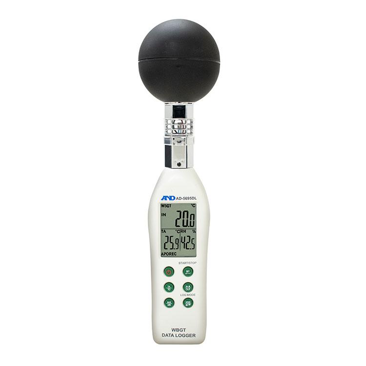 黒球形 熱中症指数計 / 熱中症指数データロガー AD-5695DL