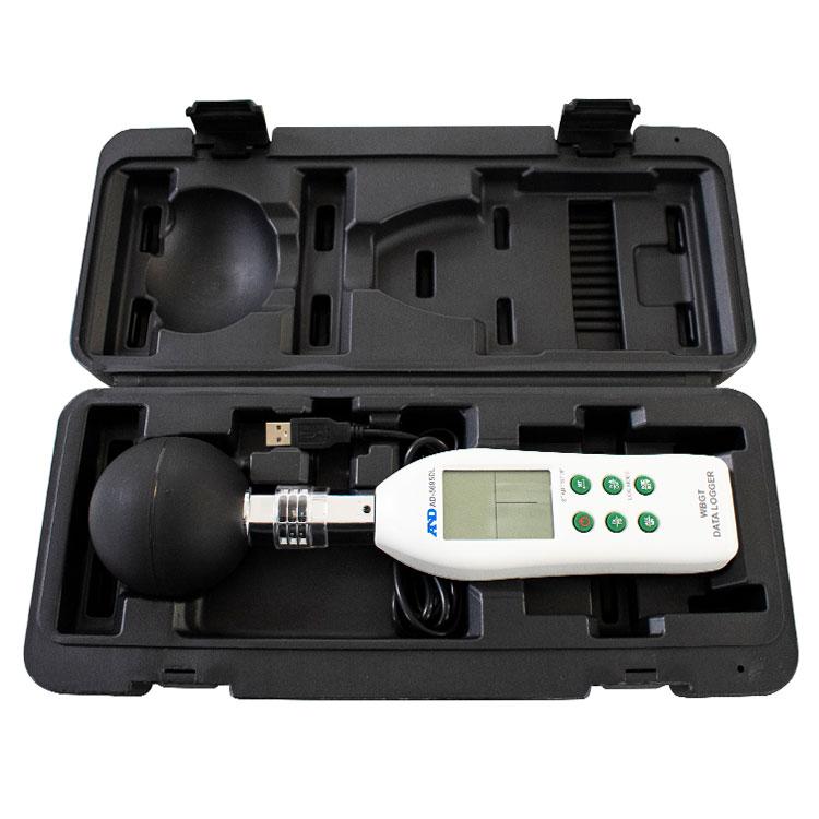 黒球形 熱中症指数計 / 熱中症指数データロガー AD-5695DL 画像